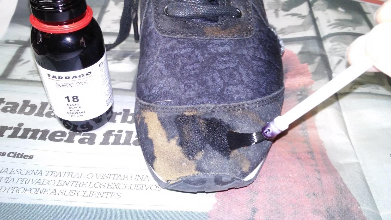 Teñir zapatos ante